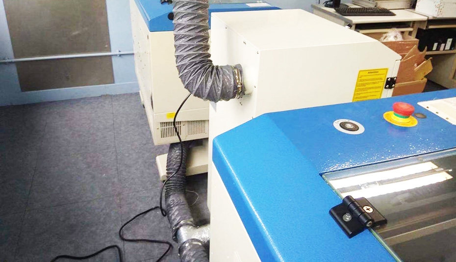 激光切割及雕刻非金属材料烟尘净化器方案