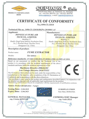 执信环保PURE-AIR-CE-CERTIFICIATION-Page-1
